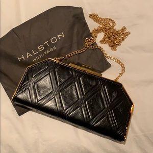 f9d86e265688 Halston Heritage Geo Frame Leather Clutch